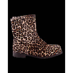 Manolo Blahnik Pony Hair Leopard Ankle Boots