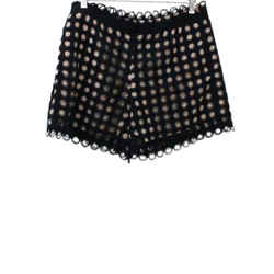 Chloe Black and Nude Cotton Lace Shorts Sz 40