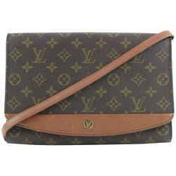 Louis Vuitton Ultra Rare Monogram Bordeaux MM GM Flap 2way Bag 149lvs25