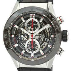 Polished TAG HEUER Carrera Calibre Heuer 01 Chronograph Watch CAR201U BF534130