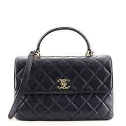 Trendy CC Top Handle Bag Quilted Lambskin Medium