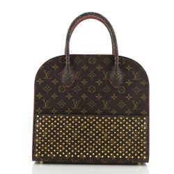 Christian Louboutin Shopping Bag Calf Hair and Monogram Canvas