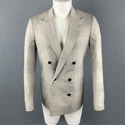 Maison Margiela Sartorial Size 38 Gray Marbled Wool Peak Lapel Double Breasted Sport Coat