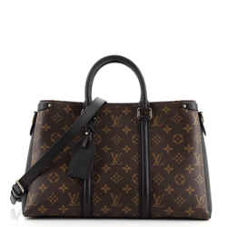 Soufflot Tote Monogram Canvas with Leather MM
