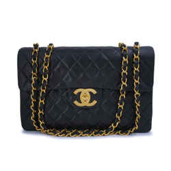 "Chanel Vintage Black Lambskin Maxi ""Jumbo XL"" Classic Flap Bag 24k GHW"