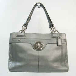 Coach Penelope Carryall F16531 Women's Leather Tote Bag Silver BF528012
