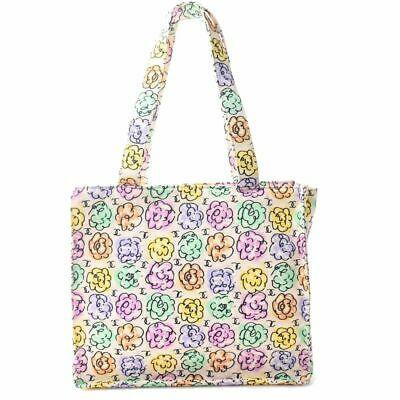 Auth Chanel Camellia Coco Mark Women's Nylon Tote Bag Multi-color