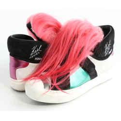 Fendi Suede And Fox Fur Karlito High Top Sneakers