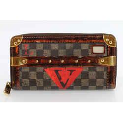 Louis Vuitton Transformed Damier Ebene Time Trunk Zippy Wallet