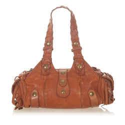 Brown Chloe Silverado Leather Shoulder Bag