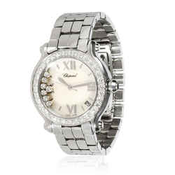 Chopard Happy Sport 278478-2002 Unisex Watch in 18kt Stainless Steel/White Gold