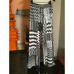 Missoni Black White Knit Zig Zag Wide Leg Pants  Ltd Edition -2400-376-11820