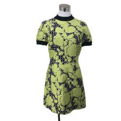 Balenciaga Green Black Print Dress sz 4