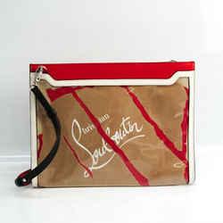 Christian Louboutin Craft Sky Women's Leather,PVC Clutch Bag,Shoulder B BF524032
