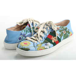 Gucci Calfskin Embroidered Ace New Flora Bee Sneakers