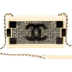 Chanel Boy Brick Cream Plexiglass Shoulder Bag