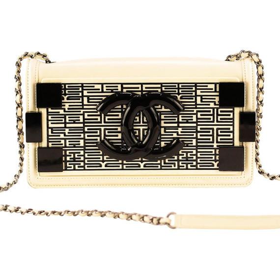 Chanel Boy Brick Cream Plexiglass Shoulder Bag