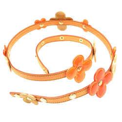 """Louis Vuitton Multicolor Vernis Flowers Vachetta Leather 36"""" Belt"""