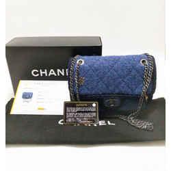 Chanel Paris To Salzburg Blue Wool Crossbody Bag 2016 Limited Edition Entrupy