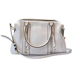 Michael Kors Large White Leather Julia Satchel