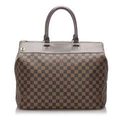 Vintage Authentic Louis Vuitton Brown Damier Ebene Greenwich Pm France
