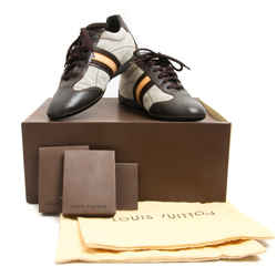 Louis Vuitton Brown Leather Vachetta Stripe Fabric Inset Sneakers