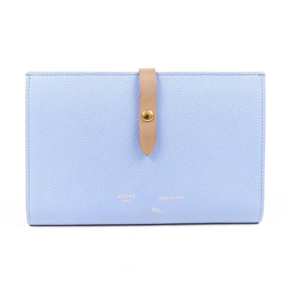 Celine Wallet Multifunction Strap Large Blue Leather