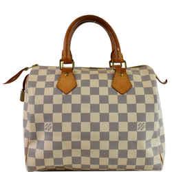 Speedy 25 Damier Azur Satchel Bag White