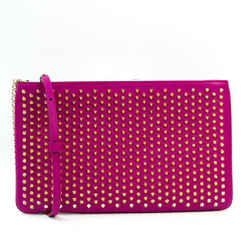 Christian Louboutin LOUBIPOSH NV CLUTCH 1165013 Women's Leather Studded BF523381
