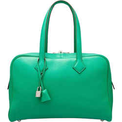 35cm Clemence Victoria With Palladium Hardware Menthe Tote Bag
