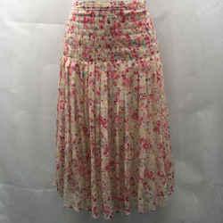 St John Pink Silk Skirt 6`