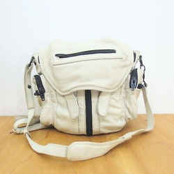 Alexander Wang White Leather Marti Multi Zip Crossbody Strap Backpack 0107HH