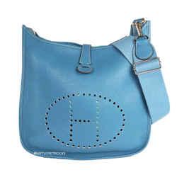 Hermes Evelyn Blue GM Crossbody Bag