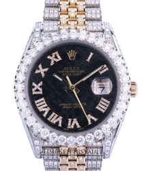 Rolex Datejust 41 Two-Tone Fully Loaded with genuine diamonds