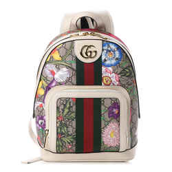 Gucci Ophidia White GG Supreme Monogram Flora Web Small Day Backpack 547965