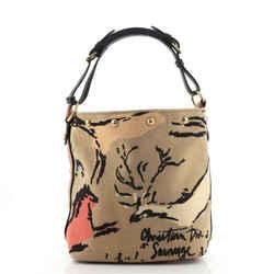 Dior avenue Bucket Bag Embroidered Canvas Small