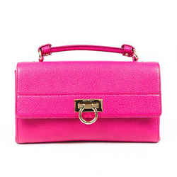 Salvatore Ferragamo Bag Ably Pink Leather Gancini