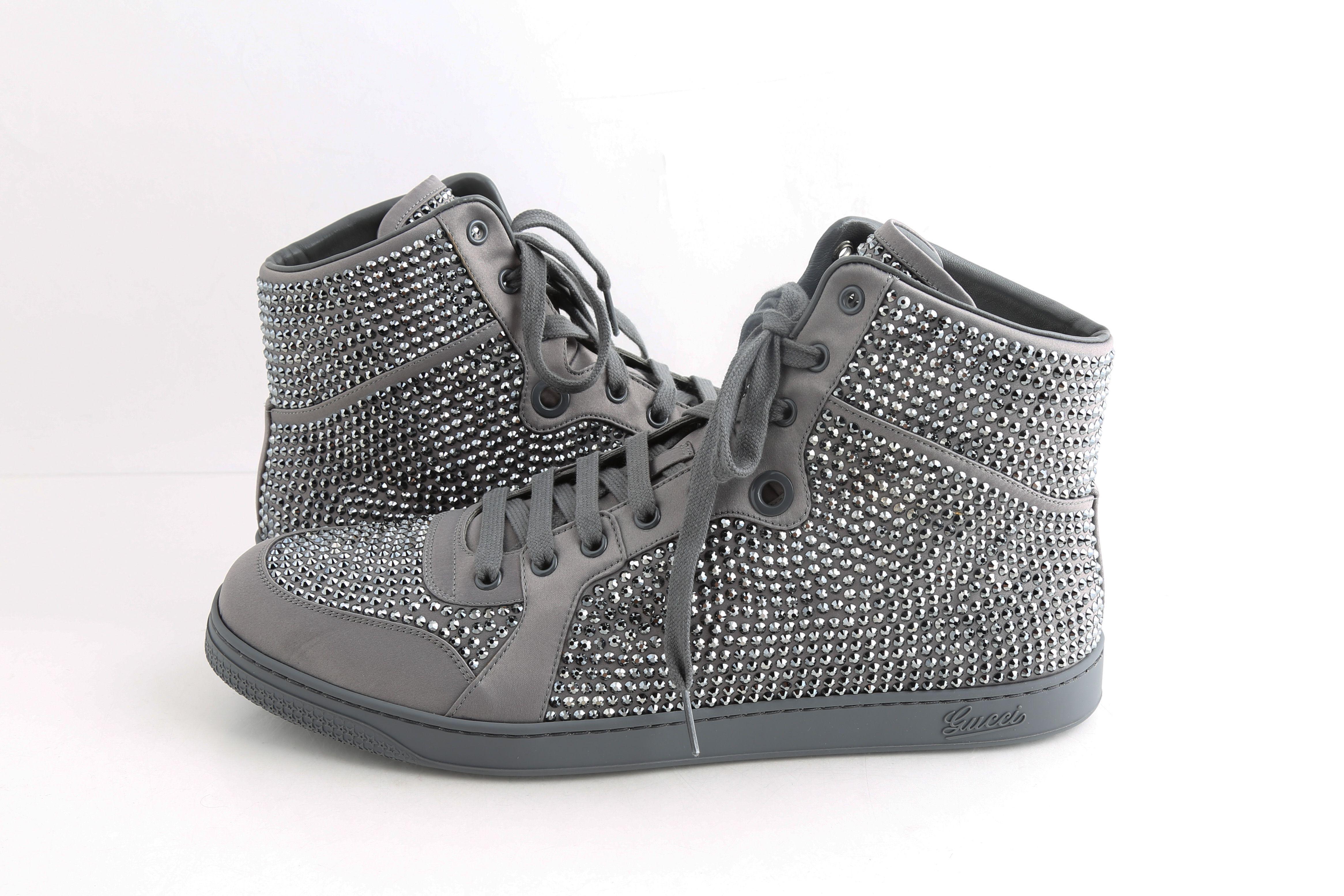 Gucci Coda Satin High Top Sneakers   LePrix