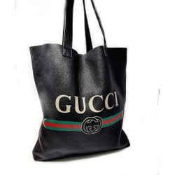 Gucci Large Vintage Logo Leather Tote Shoulder Bag
