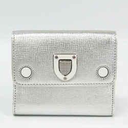 Christian Dior Diorama Women's Leather Wallet (tri-fold) Silver BF330521