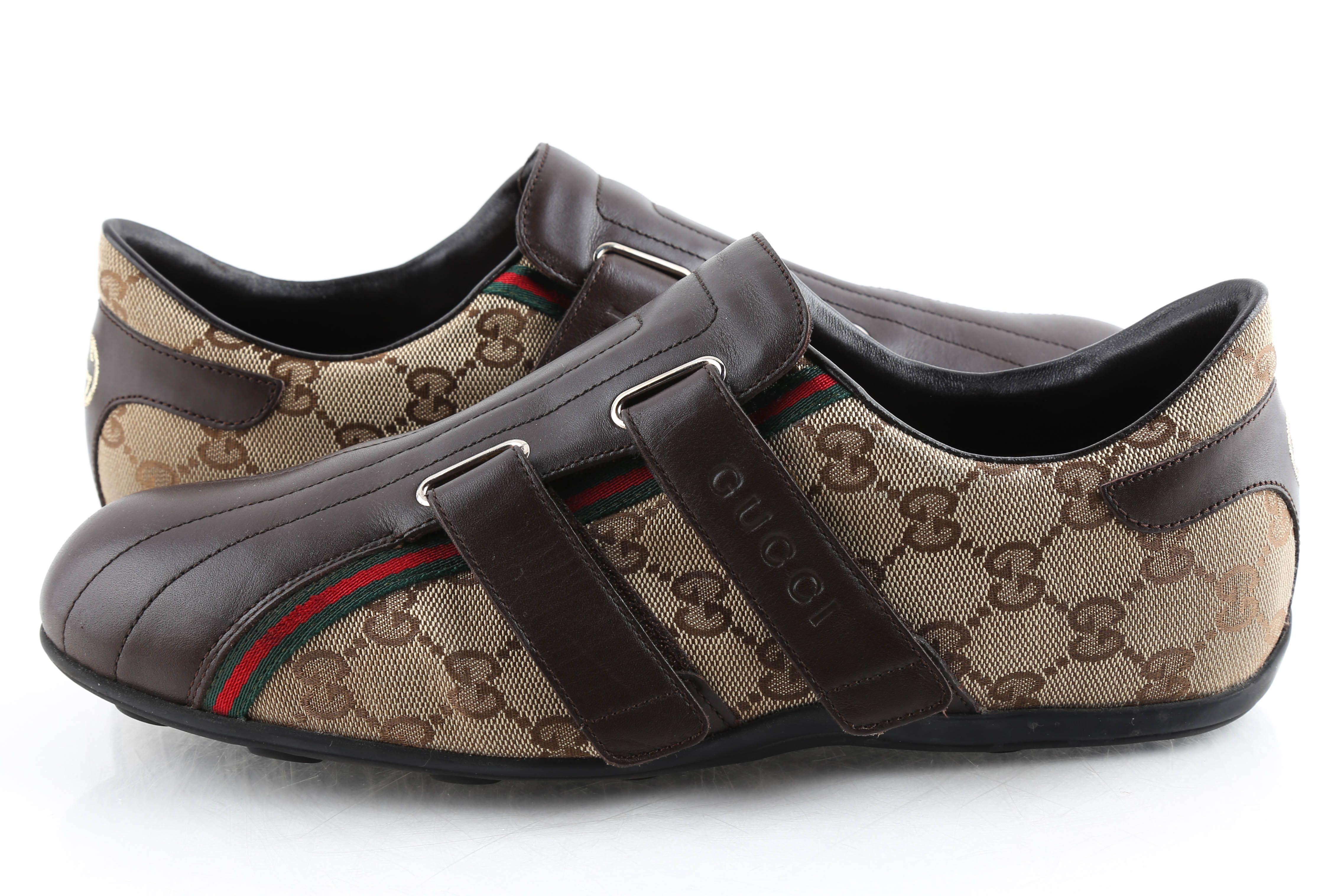 Gucci Monogram GG Velcro Shoes   LePrix