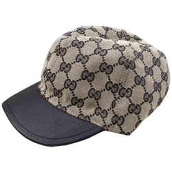 Gucci Navy Monogram GG Baseball Cap 861334