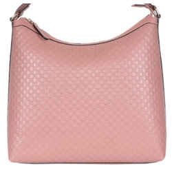 Gucci Women's  Microguccissma Soft Leather Light Pink Medium Hobo Tote 449732
