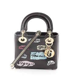 Lady Dior Bag Beaded Leather Mini
