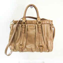 Miu Miu Women's Leather Handbag,Shoulder Bag Beige BF532858