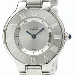 Polished CARTIER Must 21 Stainless Steel Quartz Ladies Watch W10109T2 BF513251