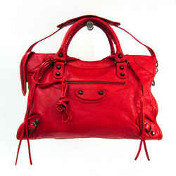 Balenciaga Classic City 115748 Women's Leather Handbag,Shoulder Bag Red BF522296