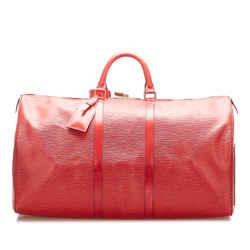 Red Louis Vuitton Epi Keepall 55 Bag