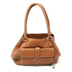 Loro Piana Brown Leather Shoulder Handbag