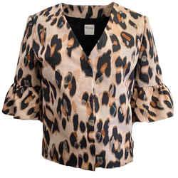 RED Valentino Pink / Black Leopard Jacket